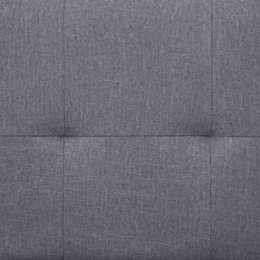 vidaXL Sofa Bed with Two Pillows Light Gray Fabric[10/12]