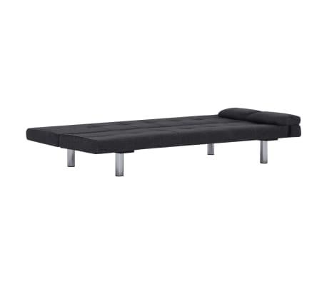 vidaXL Sofa Bed with Two Pillows Dark Gray Fabric[7/12]