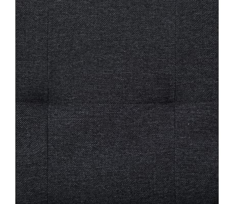 vidaXL Sofa Bed with Two Pillows Dark Gray Fabric[10/12]