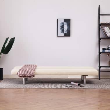 vidaXL Sofa Bed Cream Fabric[3/10]