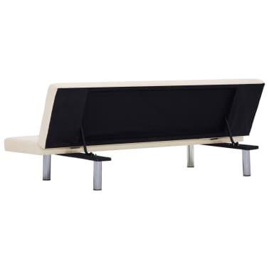 vidaXL Sofa Bed Cream Fabric[5/10]