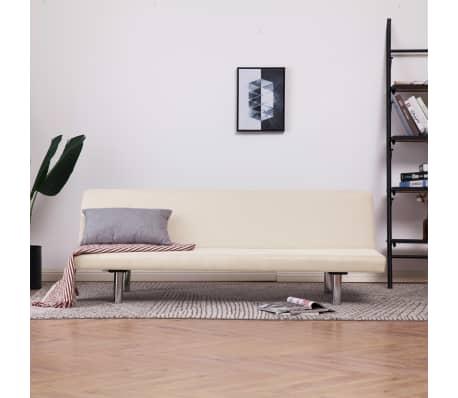 vidaXL Sofa Bed Cream Fabric[1/10]