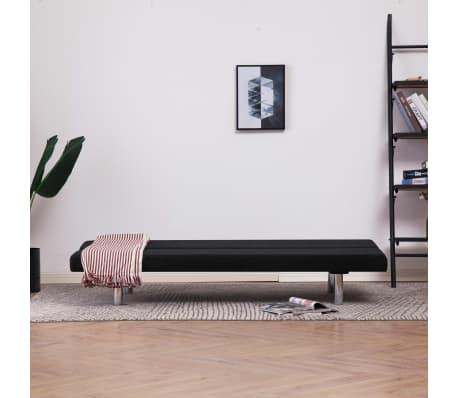 vidaXL Sofa Bed Black Fabric[3/10]