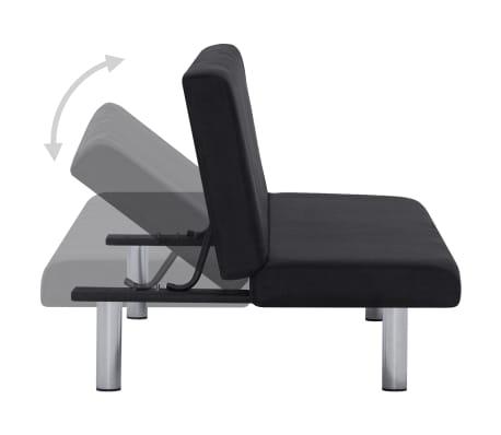 vidaXL Sofa Bed Black Fabric[4/10]