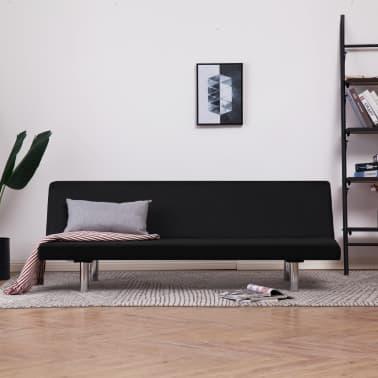 vidaXL Sofa Bed Black Fabric[1/10]