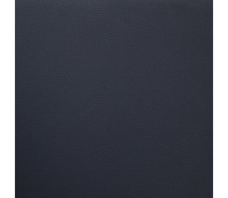 vidaXL 3-Seater Sofa with Cushions Black Faux Leather[7/9]