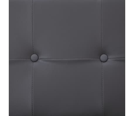 vidaXL Sofa Bed with Armrest Gray Faux Leather[9/10]