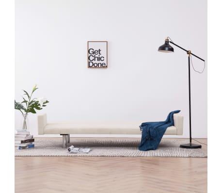 vidaXL Sofa Bed with Armrest Cream Fabric[3/10]