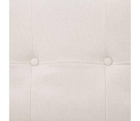 vidaXL Sofa Bed with Armrest Cream Fabric[9/10]