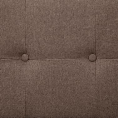vidaXL Sofa Bed with Armrest Brown Fabric[9/10]