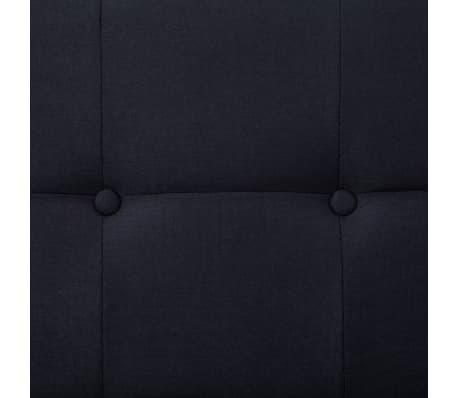 vidaXL Sofa Bed with Armrest Black Fabric[9/10]