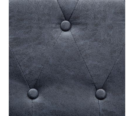 vidaXL 2-Seater Chesterfield Sofa Artificial Suede Leather Gray[5/8]