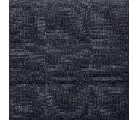 vidaXL L-shaped Sofa Bed Dark Gray Polyester[10/11]