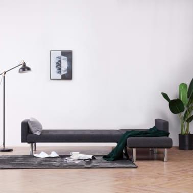 vidaXL L-shaped Sofa Bed Dark Gray Polyester[3/11]