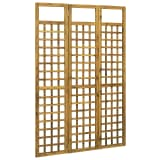 vidaXL 3-Panel Room Divider/Trellis Solid Acacia Wood 120x170 cm