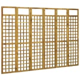vidaXL 6-Panel Room Divider/Trellis Solid Acacia Wood 240x170 cm
