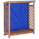 "vidaXL Firewood Storage Shed 41.3""x15""x46.5"" Solid Acacia Wood"