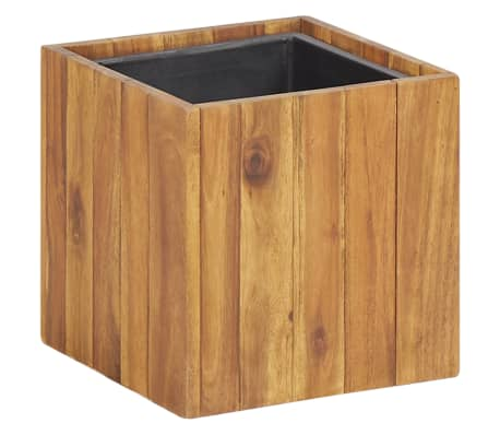 "vidaXL Garden Raised Bed Pot 9.6""x9.6""x9.6"" Solid Acacia Wood"