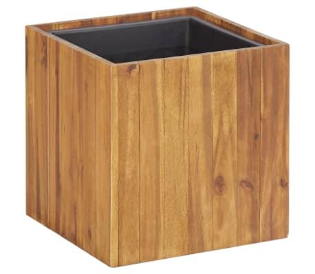 "vidaXL Garden Raised Bed Pot 13.2""x13.2""x13.2"" Solid Acacia Wood"