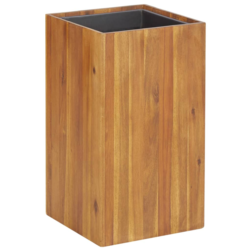 vidaXL Strat înălțat de grădină, 33,5x33,5x60 cm, lemn masiv de acacia poza vidaxl.ro