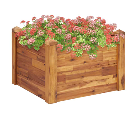 This wooden garden raised bed would be a great choice for DIY enthusiasts to decorate their gardens, balconies or patios.