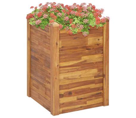 vidaXL Plantenbak verhoogd 60x60x84 cm massief acaciahout