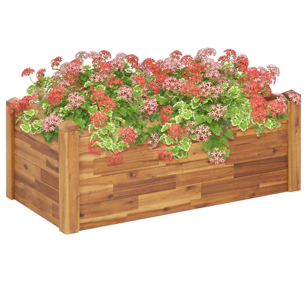 vidaXL Plantekasse 110x60x44 cm heltre akasie