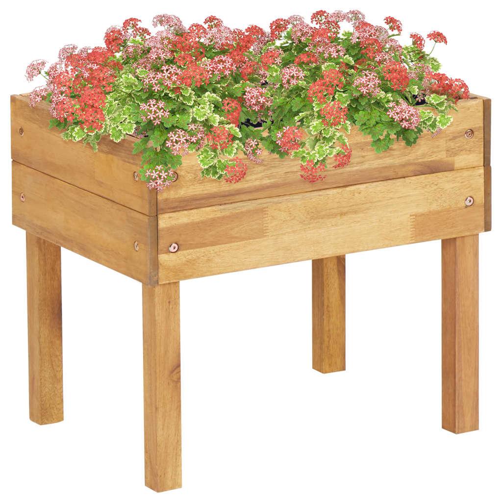 vidaXL Jardinieră înaltă, 50 x 40 x 45 cm, lemn masiv de acacia imagine vidaxl.ro