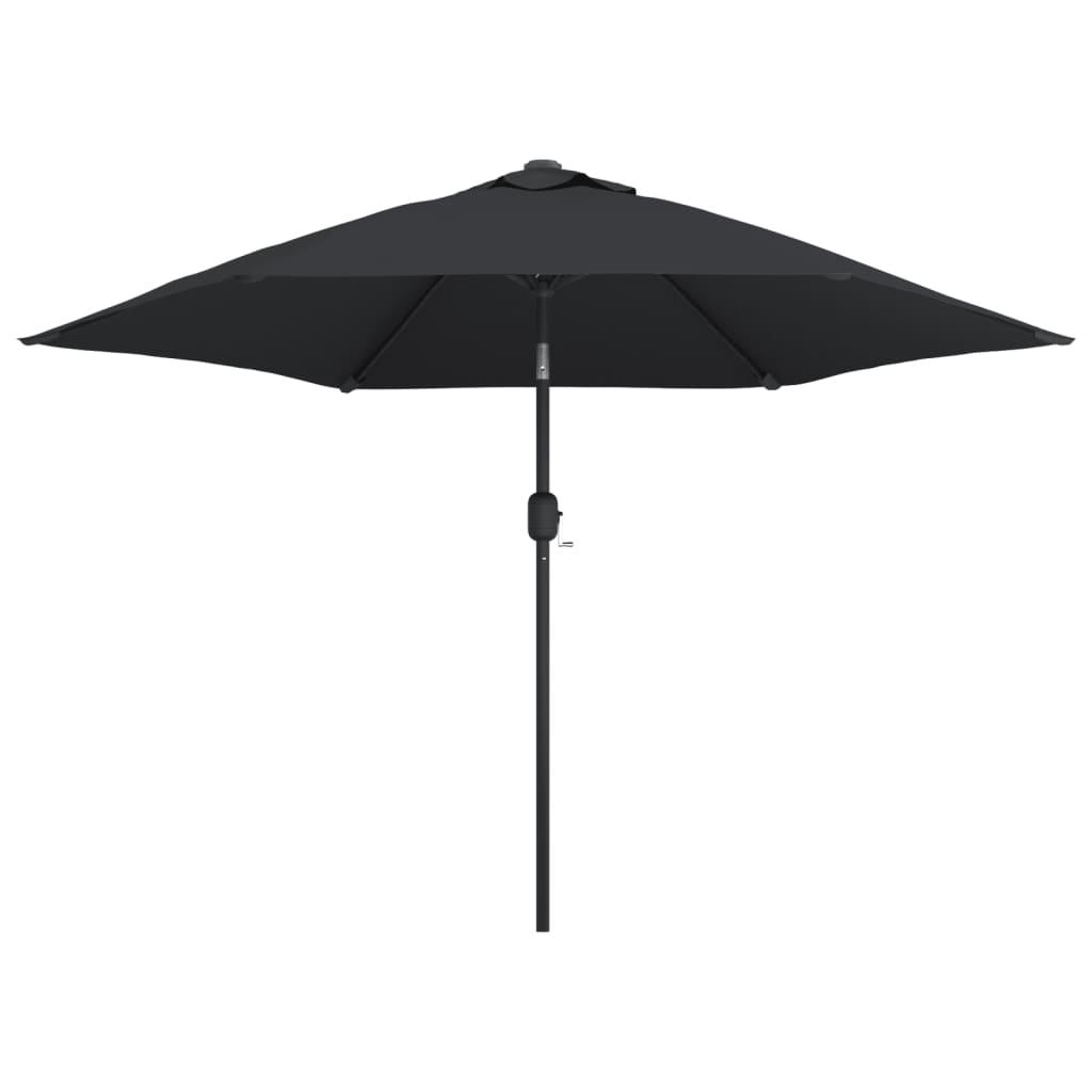 vidaXL Umbrelă de soare de exterior cu stâlp metalic, negru, 300 cm poza 2021 vidaXL