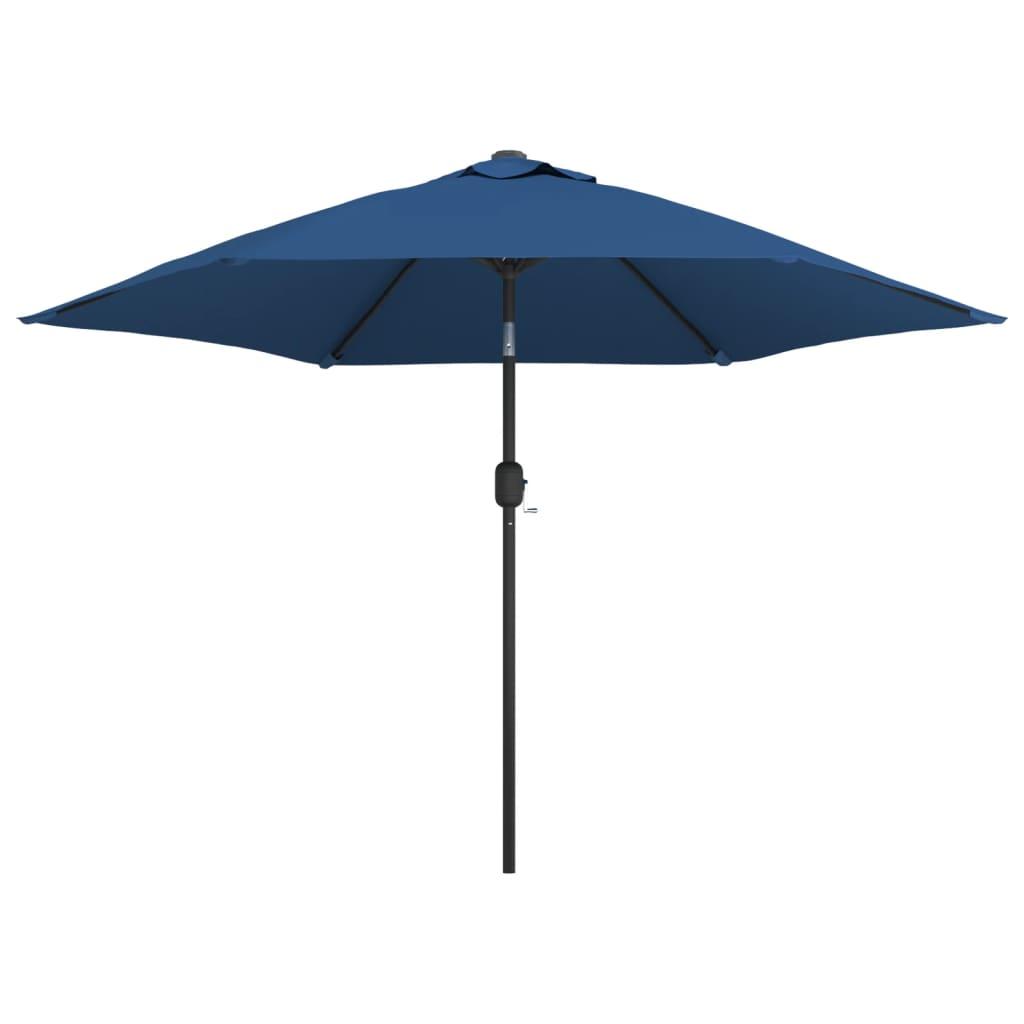 vidaXL Umbrelă de soare de exterior cu stâlp metalic, azur, 300 cm imagine vidaxl.ro