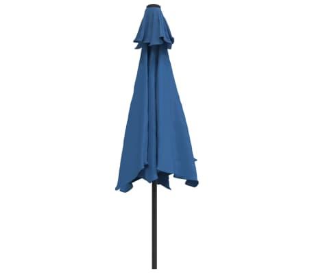 vidaXL Tuinparasol met metalen paal 300 cm blauw[3/7]
