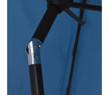vidaXL Tuinparasol met metalen paal 300 cm blauw[5/7]