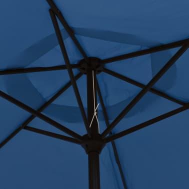 vidaXL Tuinparasol met metalen paal 300 cm blauw[4/7]