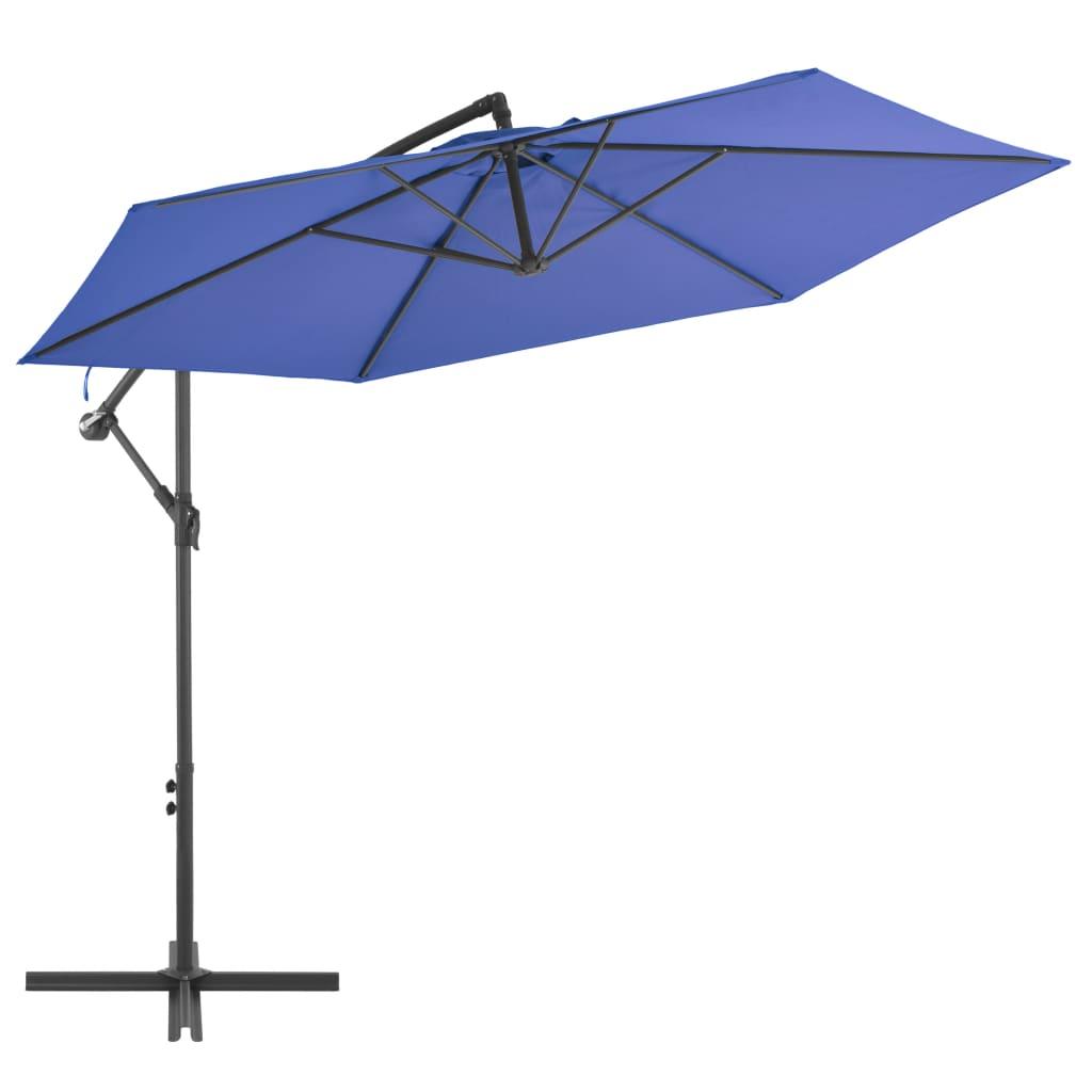 Ampelschirm mit Alu-Mast 300 cm Blau