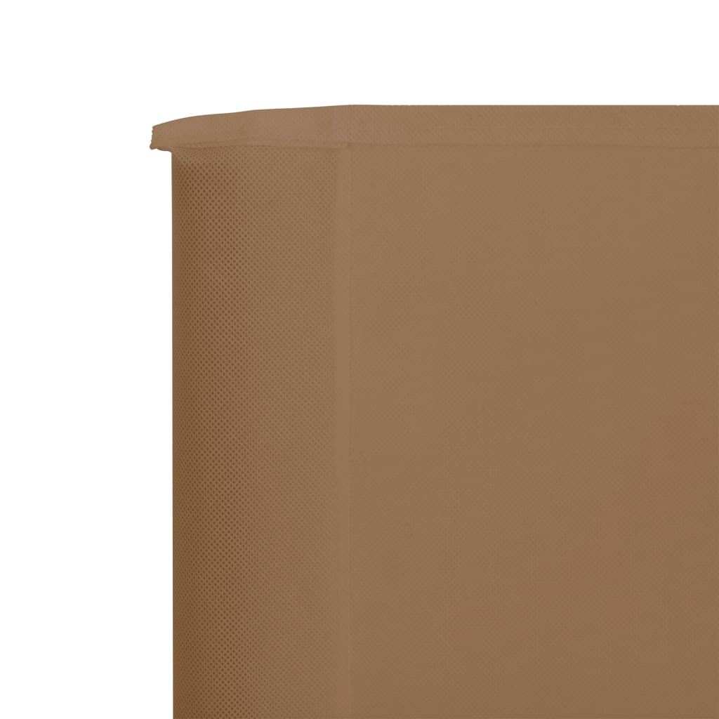Windscherm 3-panelen 400x80 cm stof taupe