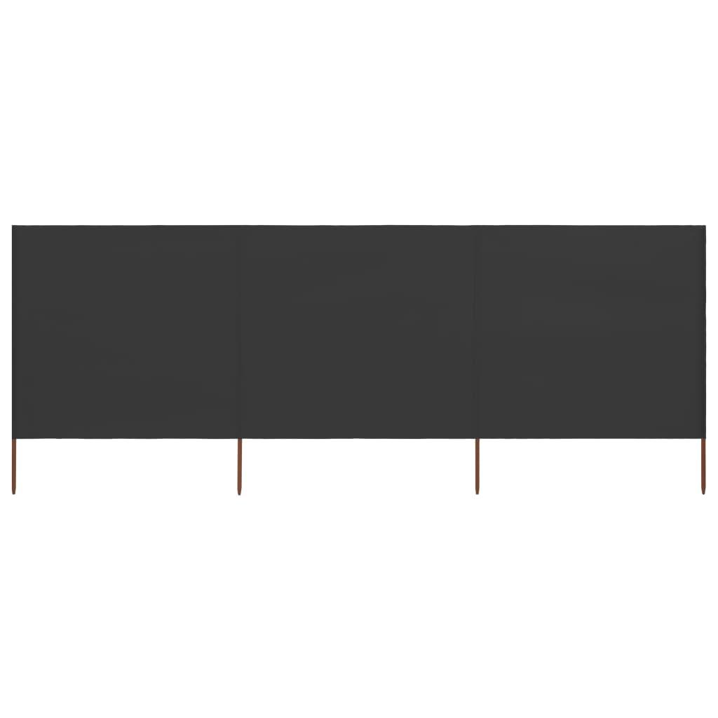 vidaXL Paravento a 3 Pannelli in Tessuto 400x160 cm Antracite