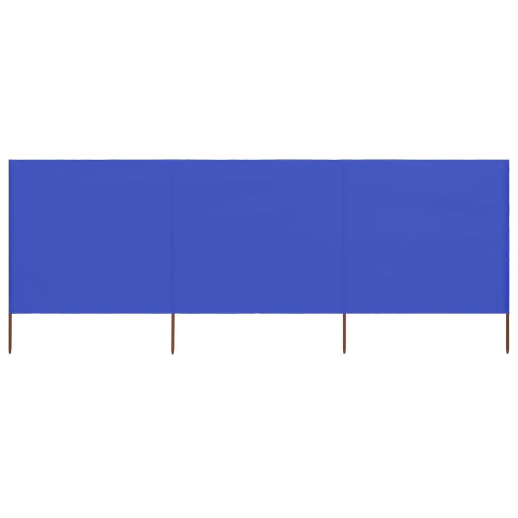 3-teiliges Windschutzgewebe 400 x 160 cm Azurblau