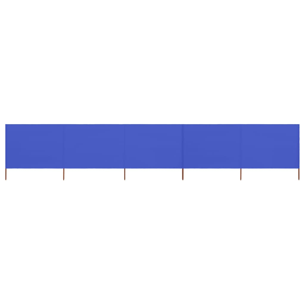 5-teiliges Windschutzgewebe 600 x 80 cm Azurblau