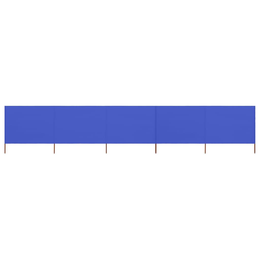 5-teiliges Windschutzgewebe 600 x 120 cm Azurblau