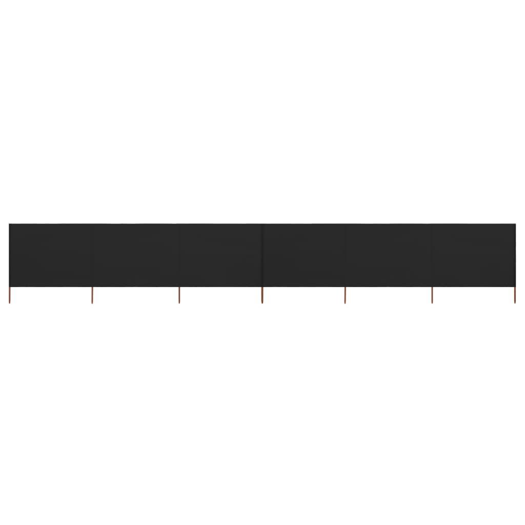 vidaXL Paravan anti-vânt cu 6 panouri, negru, 800 x 80 cm, textil poza 2021 vidaXL