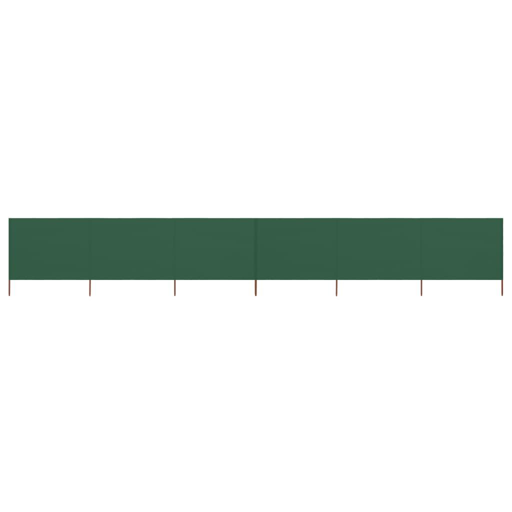 6-teiliges Windschutzgewebe 800 x 120 cm Grün