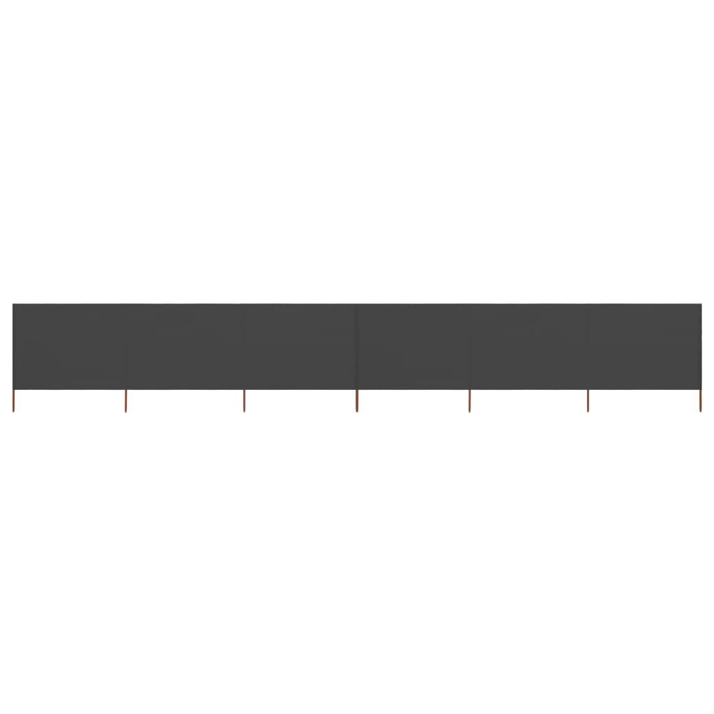 6-teiliges Windschutzgewebe 800 x 120 cm Anthrazit