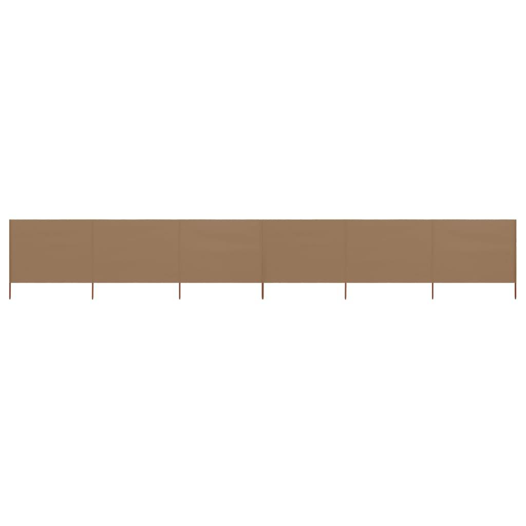 6-teiliges Windschutzgewebe 800 x 120 cm Taupe
