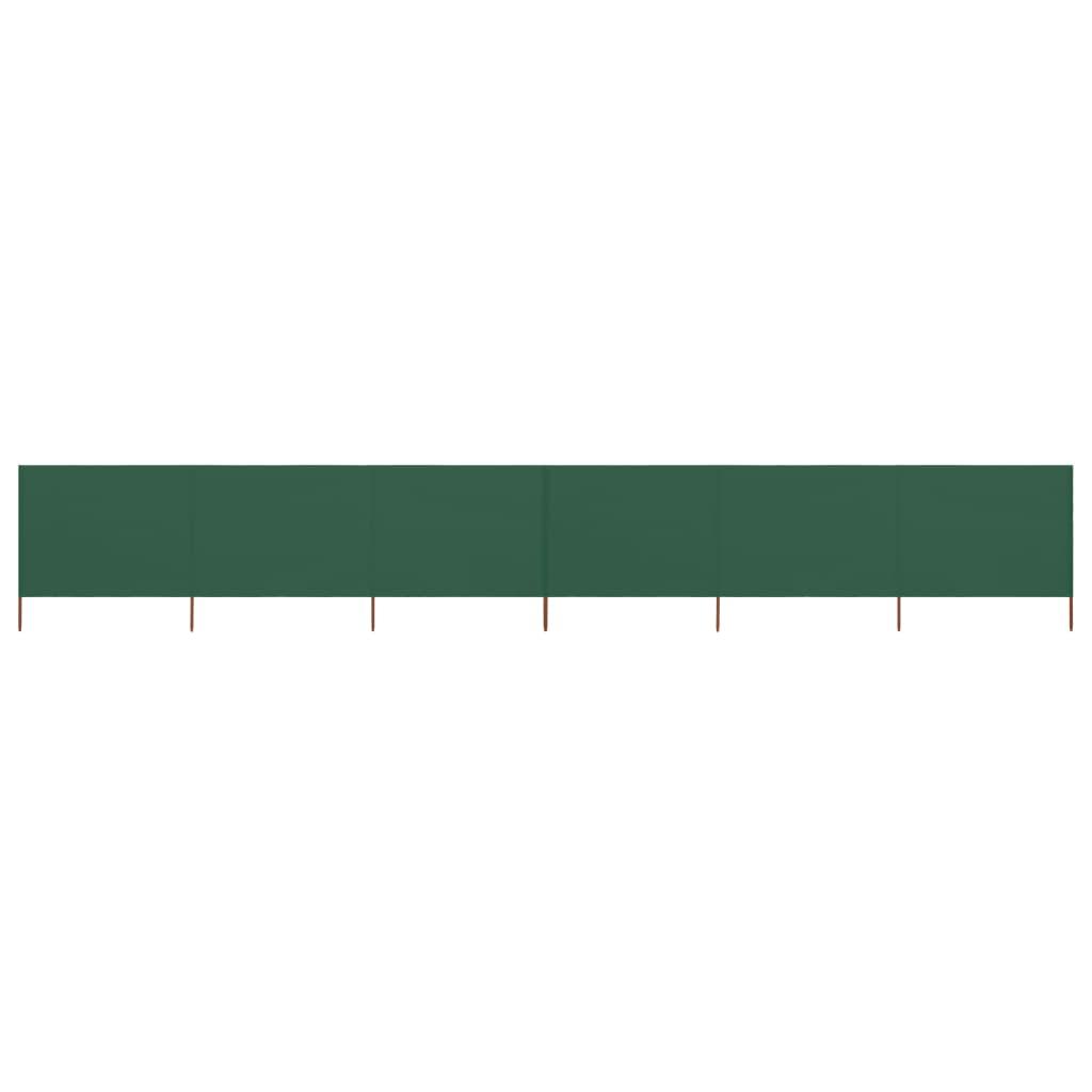 vidaXL Paravan anti-vânt cu 6 panouri, verde, 800 x 160 cm, textil imagine vidaxl.ro