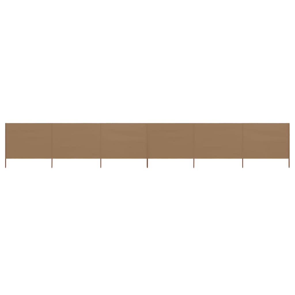 vidaXL Windscherm 6-panelen 800x160 cm stof taupe