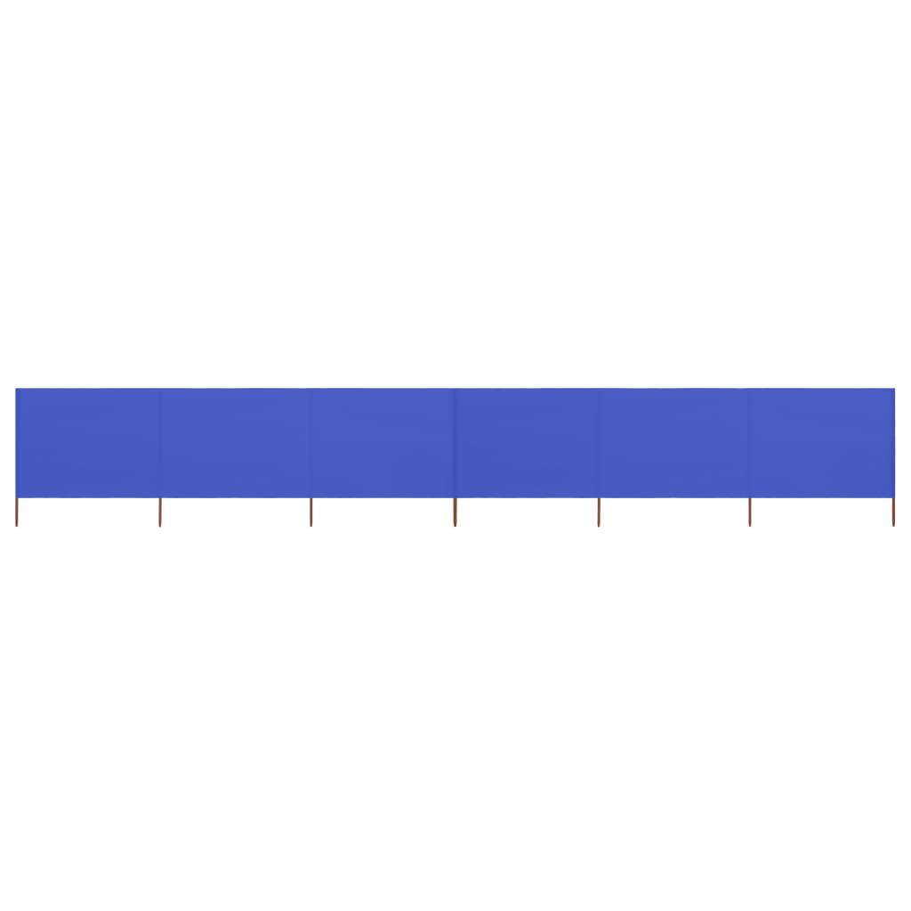 6-teiliges Windschutzgewebe 800 x 160 cm Azurblau