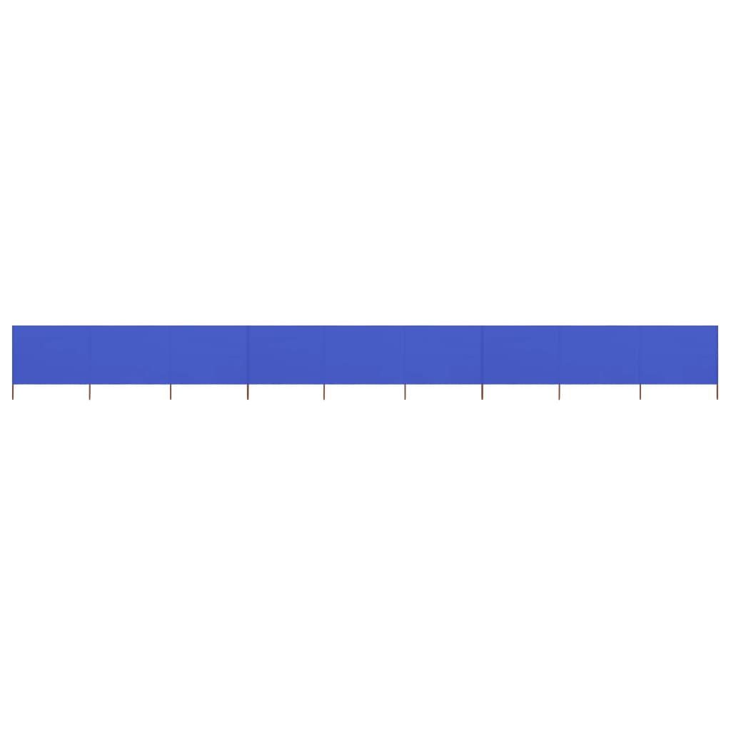 vidaXL Προστατευτικό Αέρα με 9 Πάνελ Αζούρ Μπλε 1200×80 εκ. Υφασμάτινο