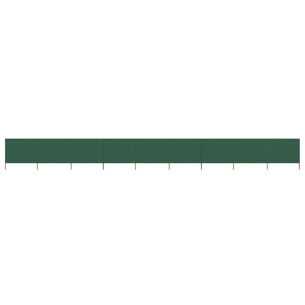 vidaXL Paravan anti-vânt cu 9 panouri, verde, 1200x120 cm, textil poza vidaxl.ro