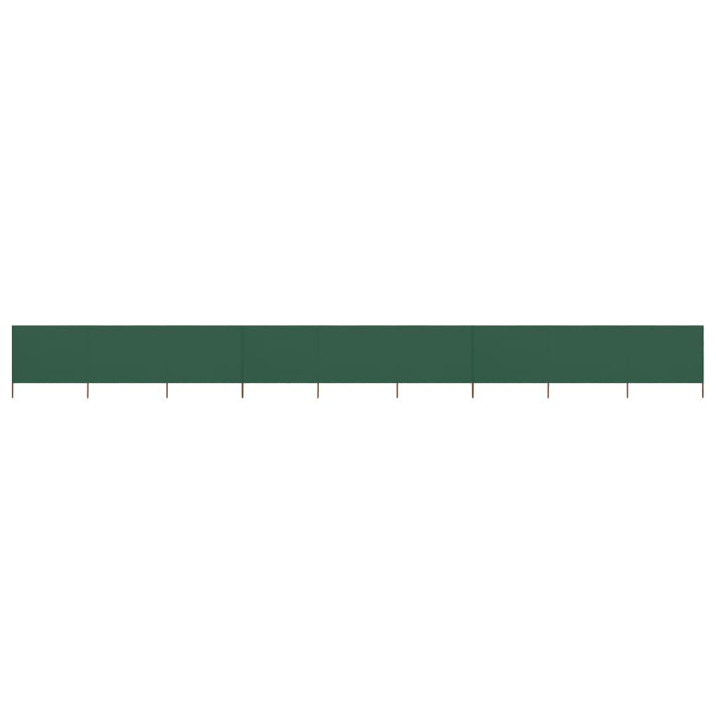 vidaXL Προστατευτικό Αέρα με 9 Πάνελ Πράσινο 1200 x 160 εκ. Υφασμάτινο