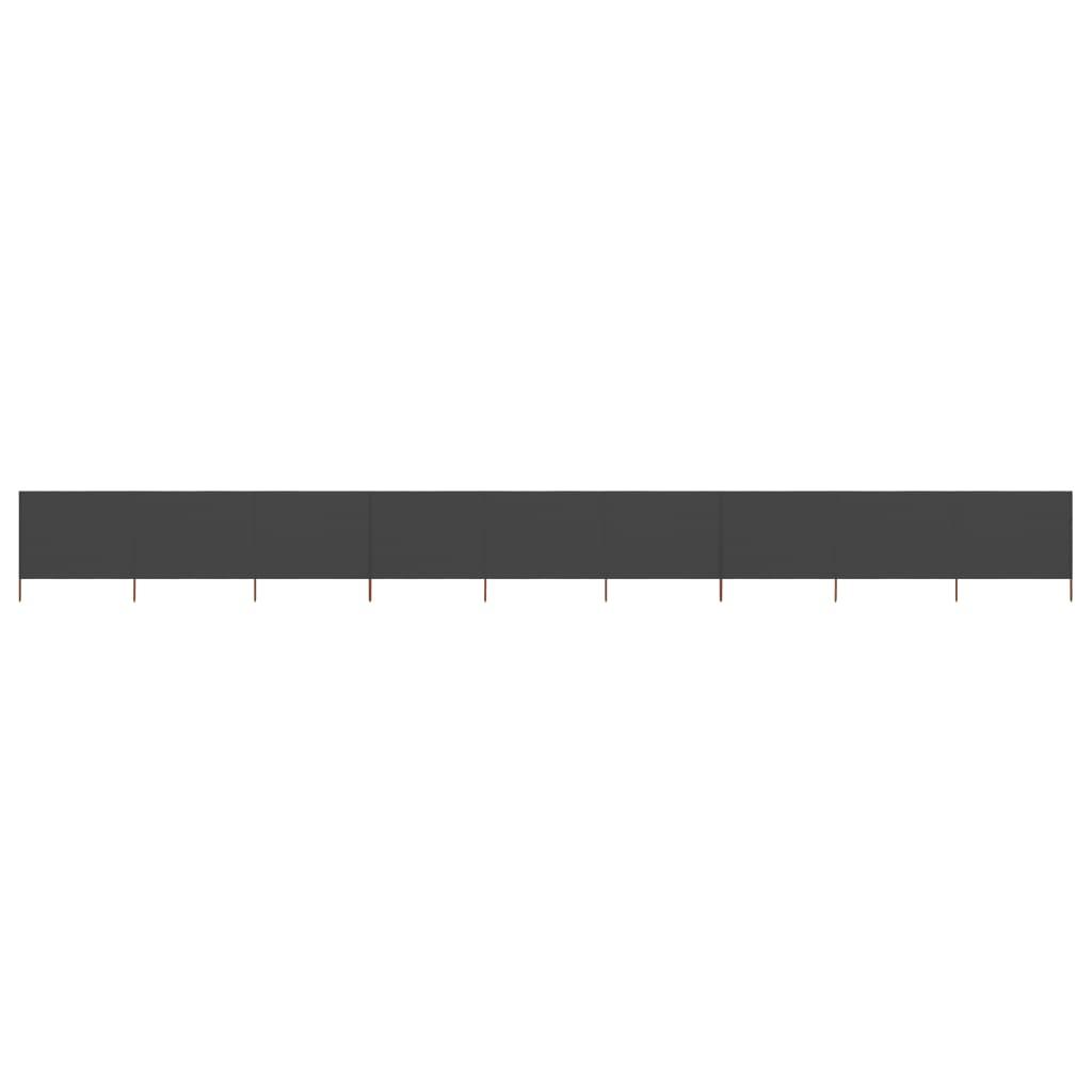 9-teiliges Windschutzgewebe 1200 x 160 cm Anthrazit